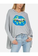 LAUREN MOSHI WILMA WORLD PEACE LIPS PULLOVER