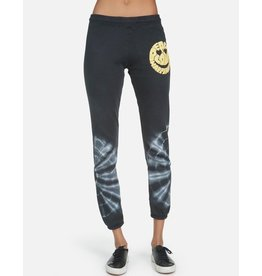 LAUREN MOSHI GIA TEXT HAPPY FACE SWEATPANT