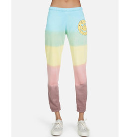LAUREN MOSHI BRYNN TEXT HAPPY FACE SWEATPANT