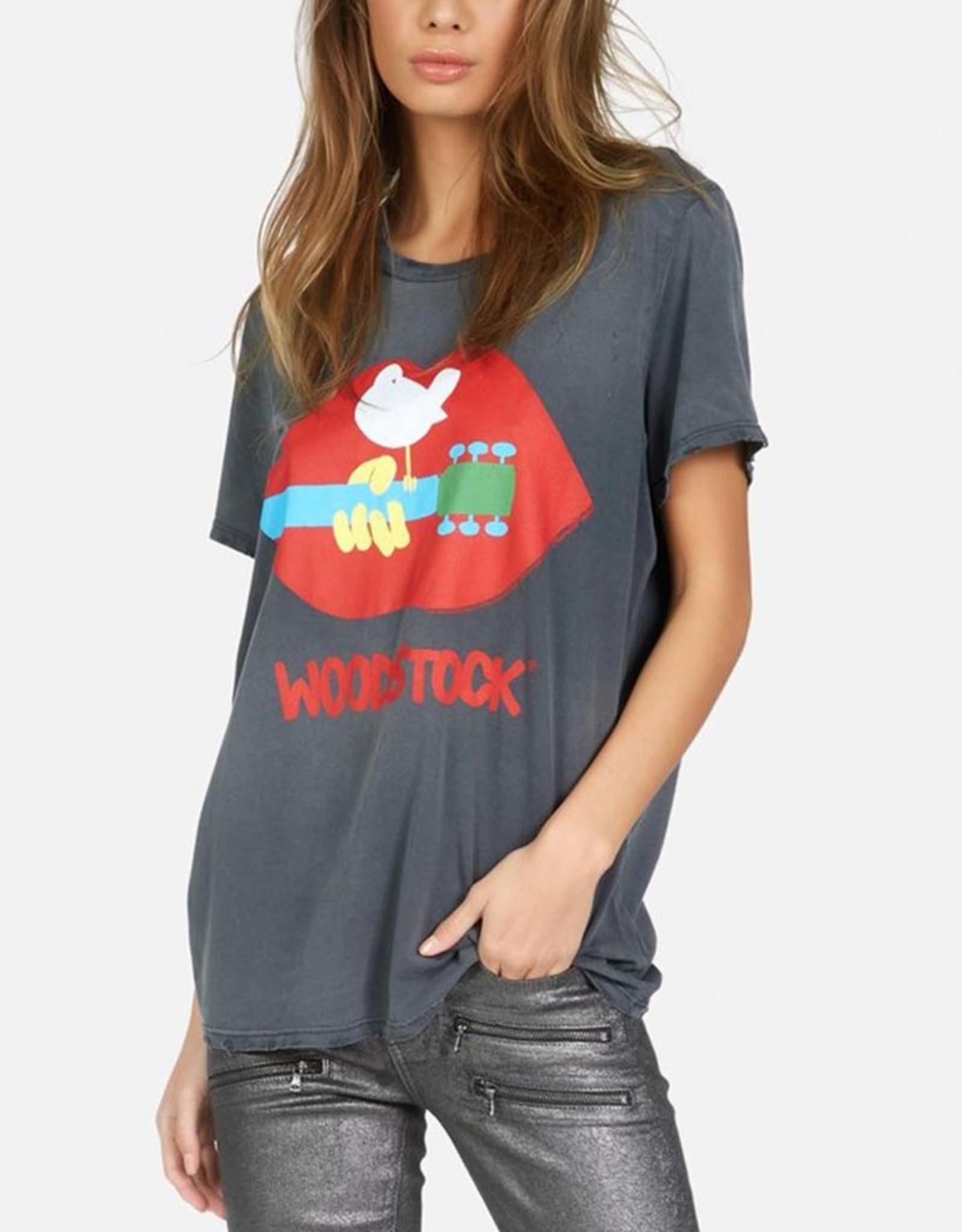 LAUREN MOSHI WOLF WOODSTOCK BOYFRIEND TEE