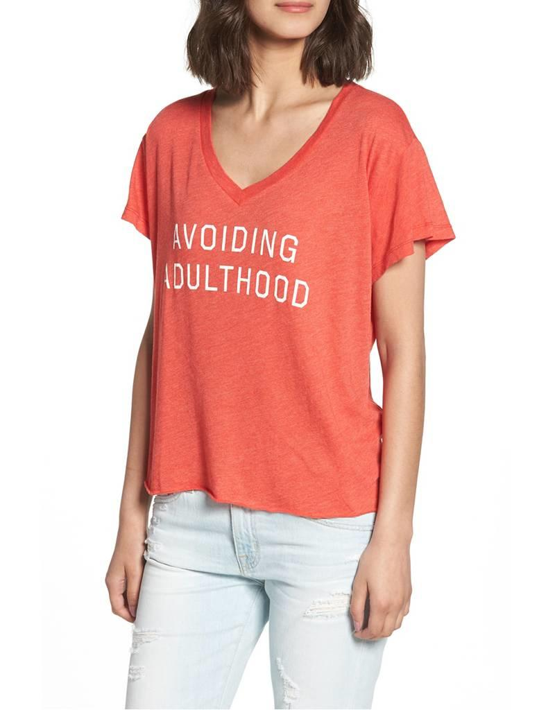 WILDFOX AVOIDING ADULTHOOD ROMEO TEE
