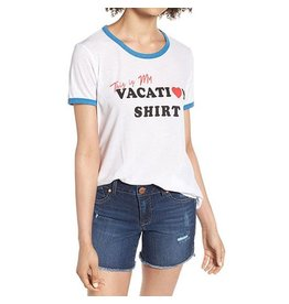 WILDFOX VACATION JOHNNY RINGER TEE
