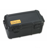 Cigar Caddy 15-Count Black Travel Humidor
