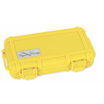 Cigar Caddy 5-Count Safety Yellow Travel Humidor
