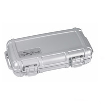 Cigar Caddy 5-Count Silver Travel Humidor