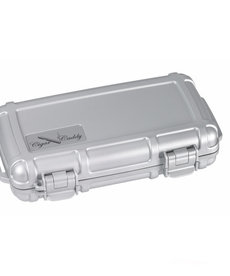 Cigar Caddy Cigar Caddy 5-Count Silver Travel Humidor