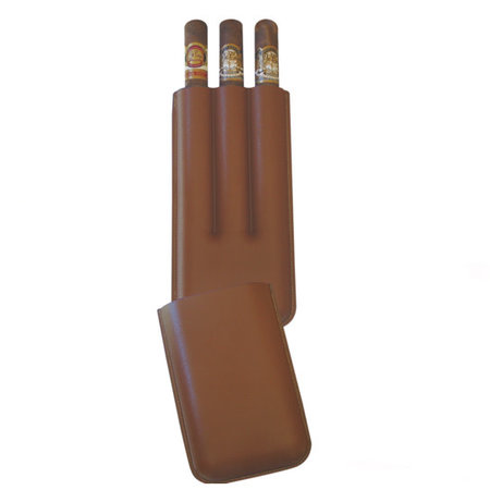 Big Easy 3-Finger Brown Cigar Case