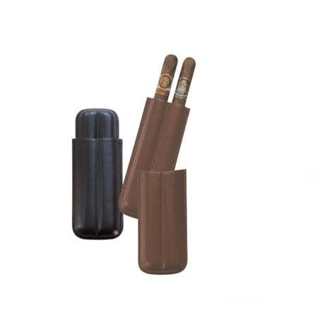 Big Easy 2-Finger 54+ Leather Cigar Case Black