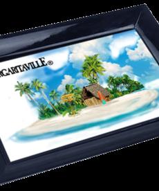 Margaritaville Margaritaville Chum Bucket 2-Stick Black Melamine Ashtray Beach Scene