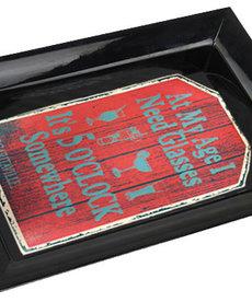 Margaritaville Margaritaville Chum Bucket 2-Stick Black Melamine Ashtray Red Sign