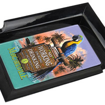 Margaritaville Chum Bucket 2-Stick Black Melamine Ashtray Working Parrot