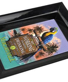 Margaritaville Margaritaville Chum Bucket 2-Stick Black Melamine Ashtray Working Parrot