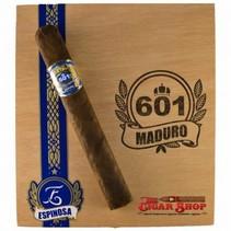 601 by Espinosa Blue Label Maduro Short Churchill Box of 20