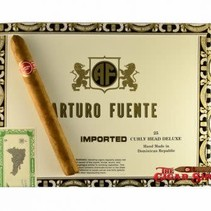 Arturo Fuente Curly Head Deluxe Natural 6 3/8x44 Box of 25