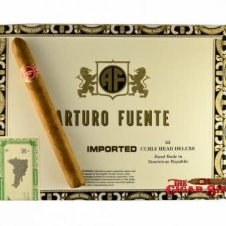JC Newman Arturo Fuente Curly Head Deluxe Natural 6 3/8x44 Box of 25