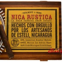 Nica Rustica by Drew Estate Belly 7.5x54 Box of 25