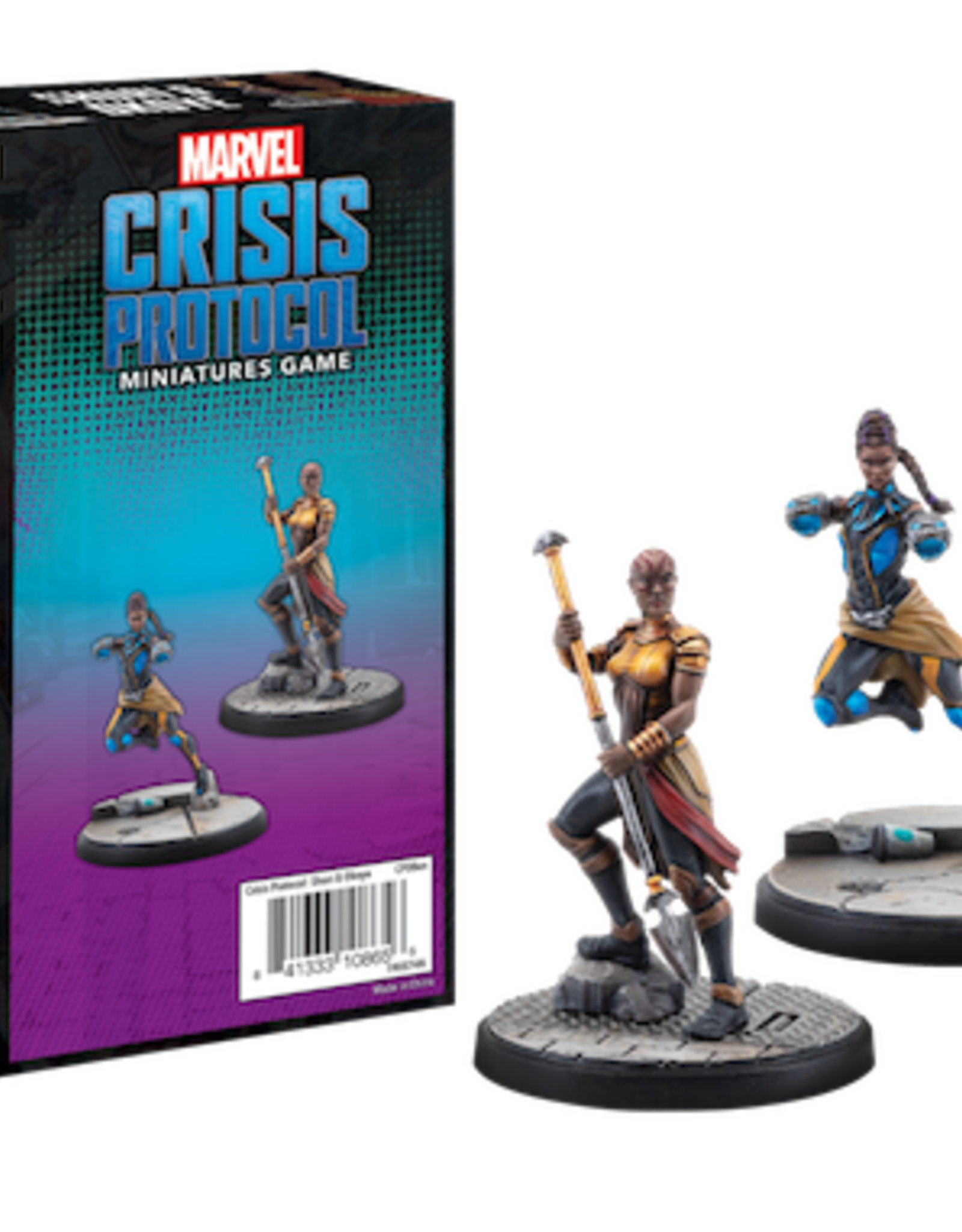 Atomic Mass Marvel Crisis Protocol Shuri & Okoye Character Pack