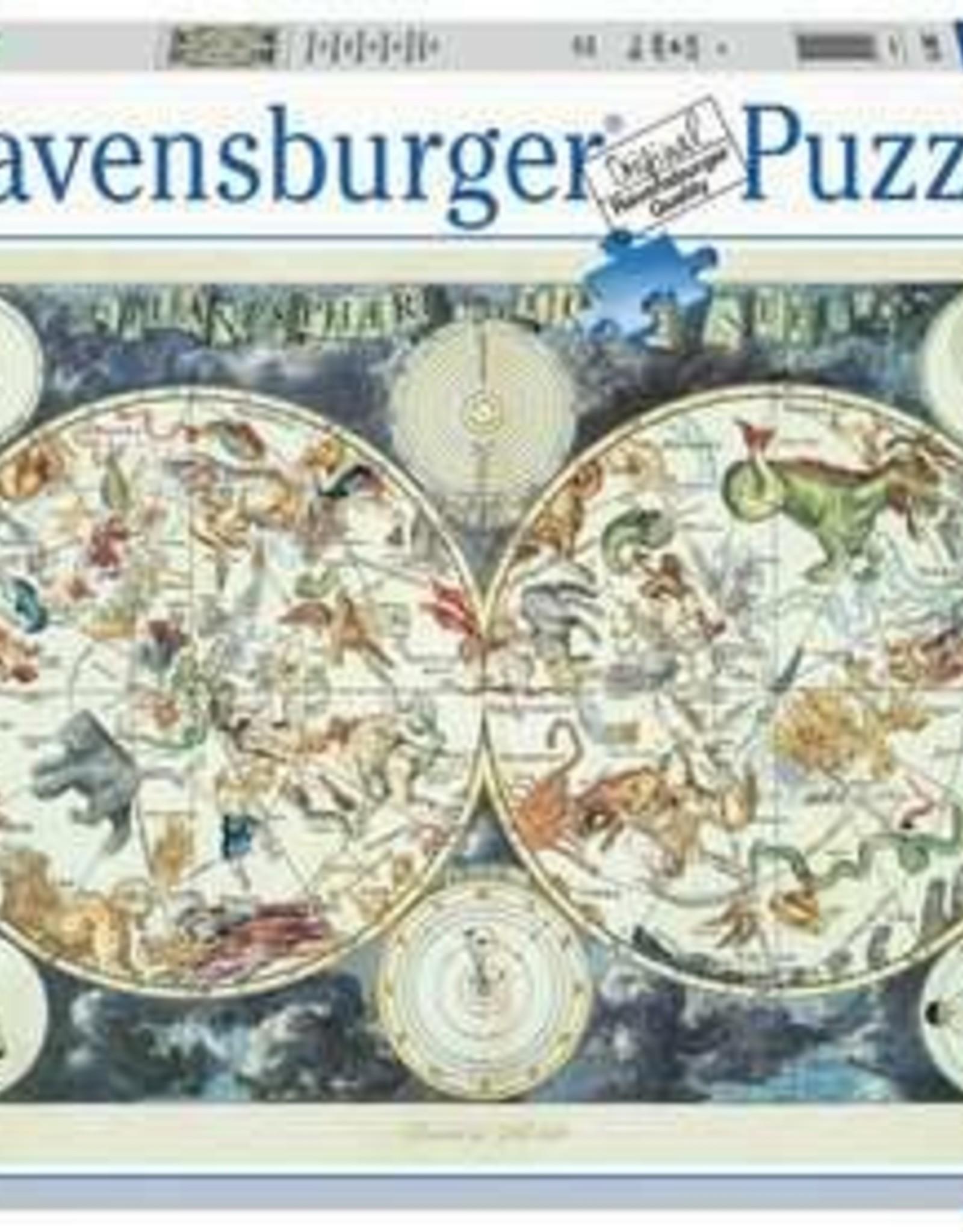 Ravensburger Ravensburger Puzzle 1500 pc: World Map of Fantastic Beasts