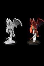 Wizkids D&D Primed Mini: Young Red Dragon