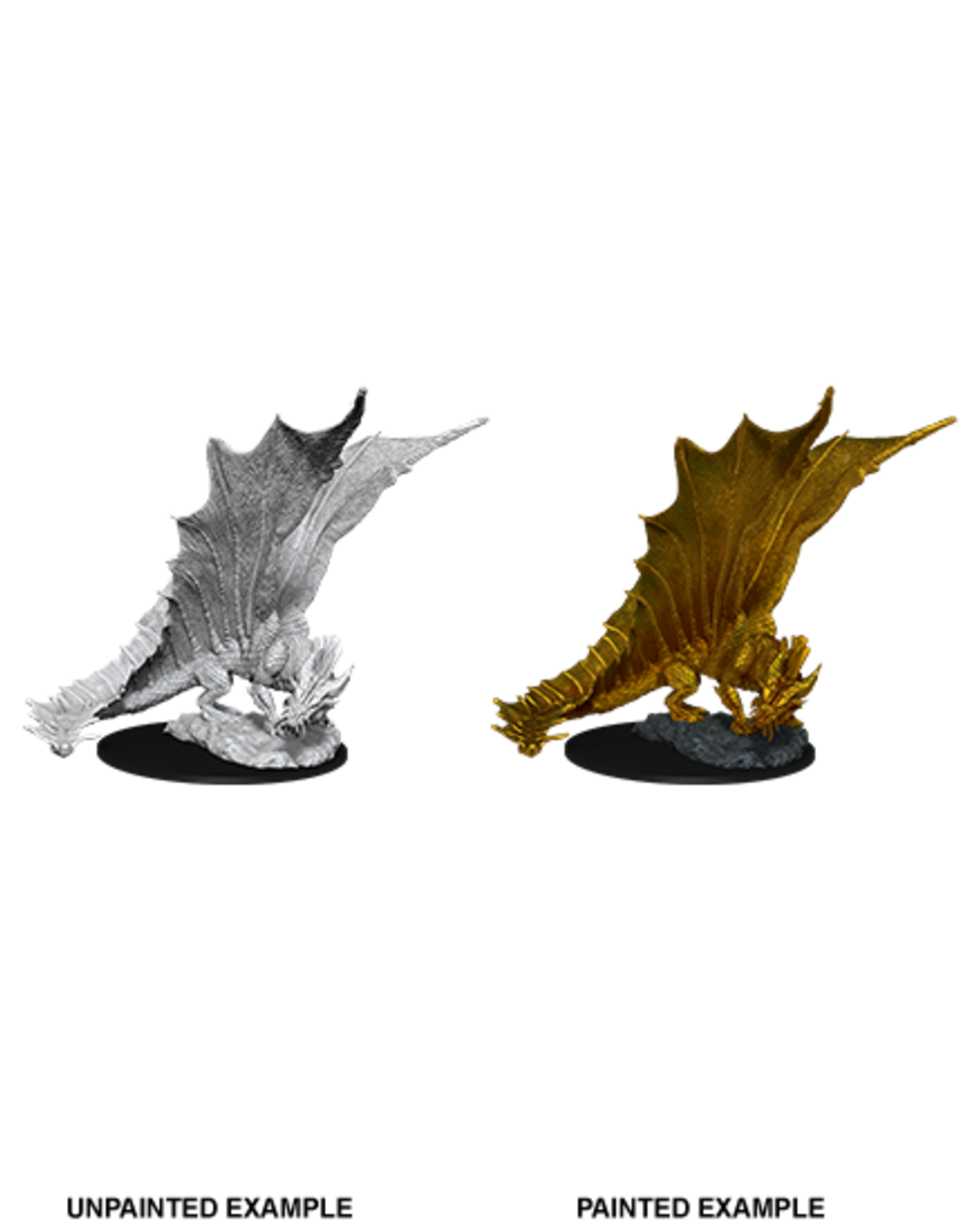 Wizkids D&D Primed Mini: Young Gold Dragon
