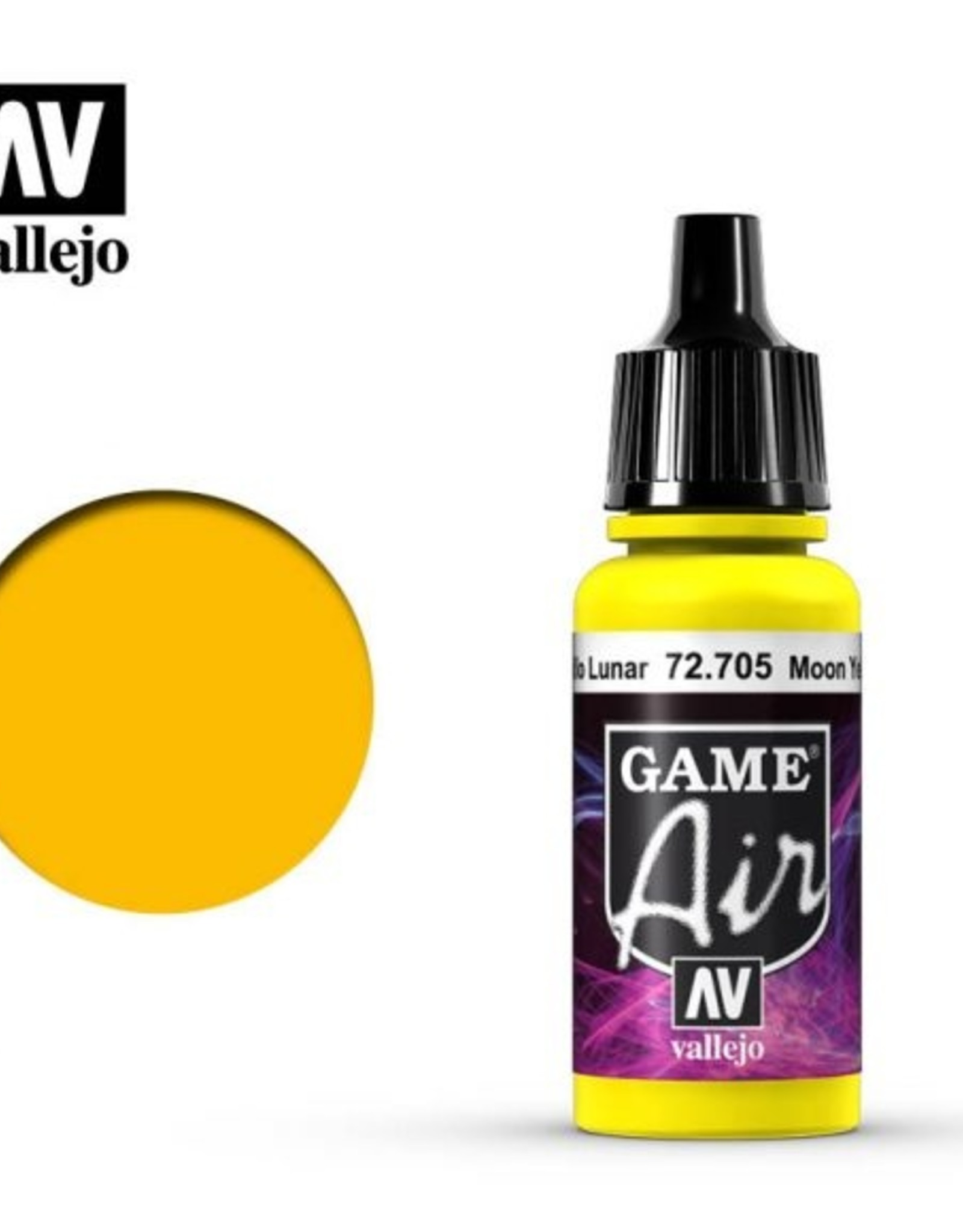 Vallejo Game Air:  72.705 Moon Yellow