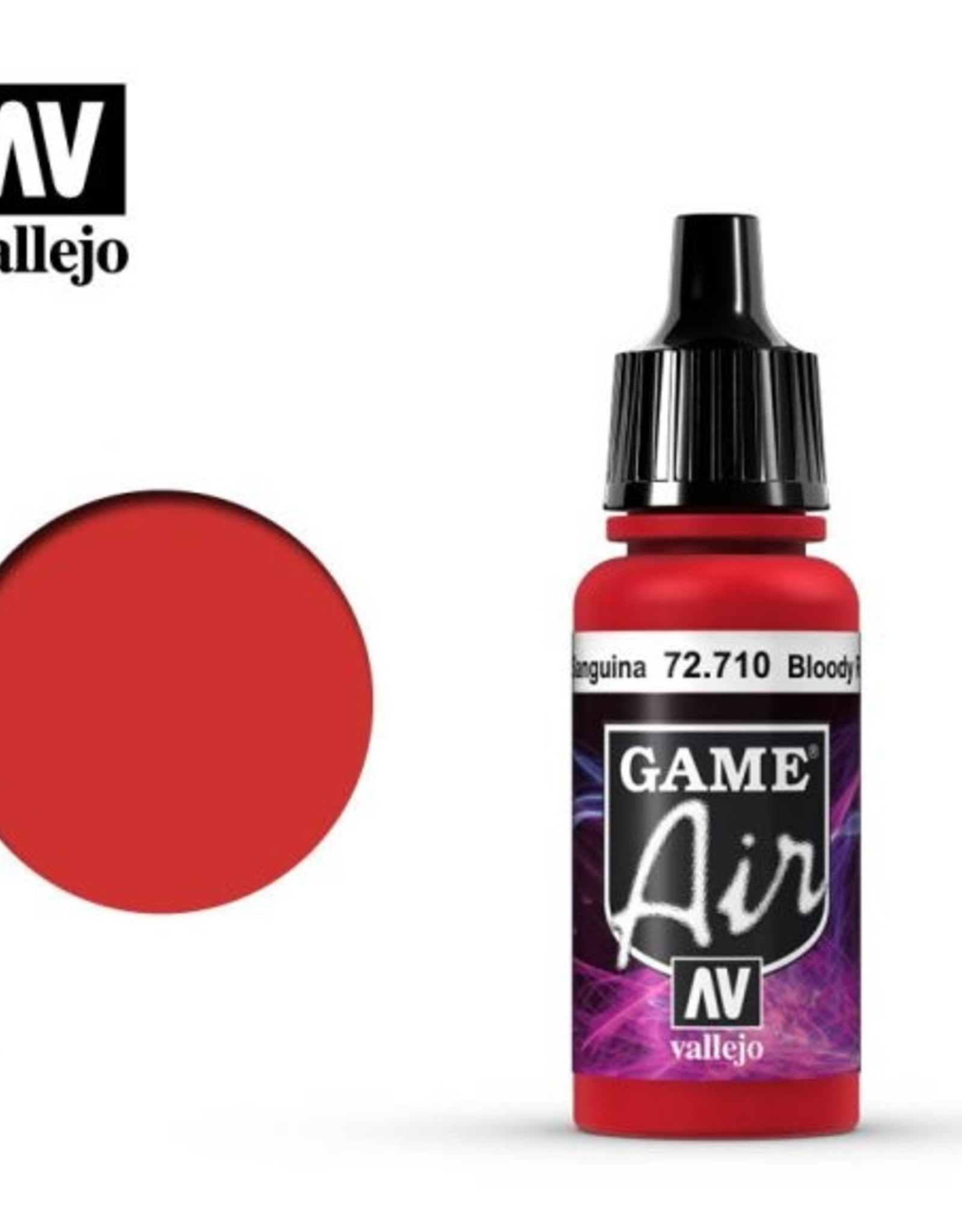 Vallejo Game Air:  72.710 Bloody Red