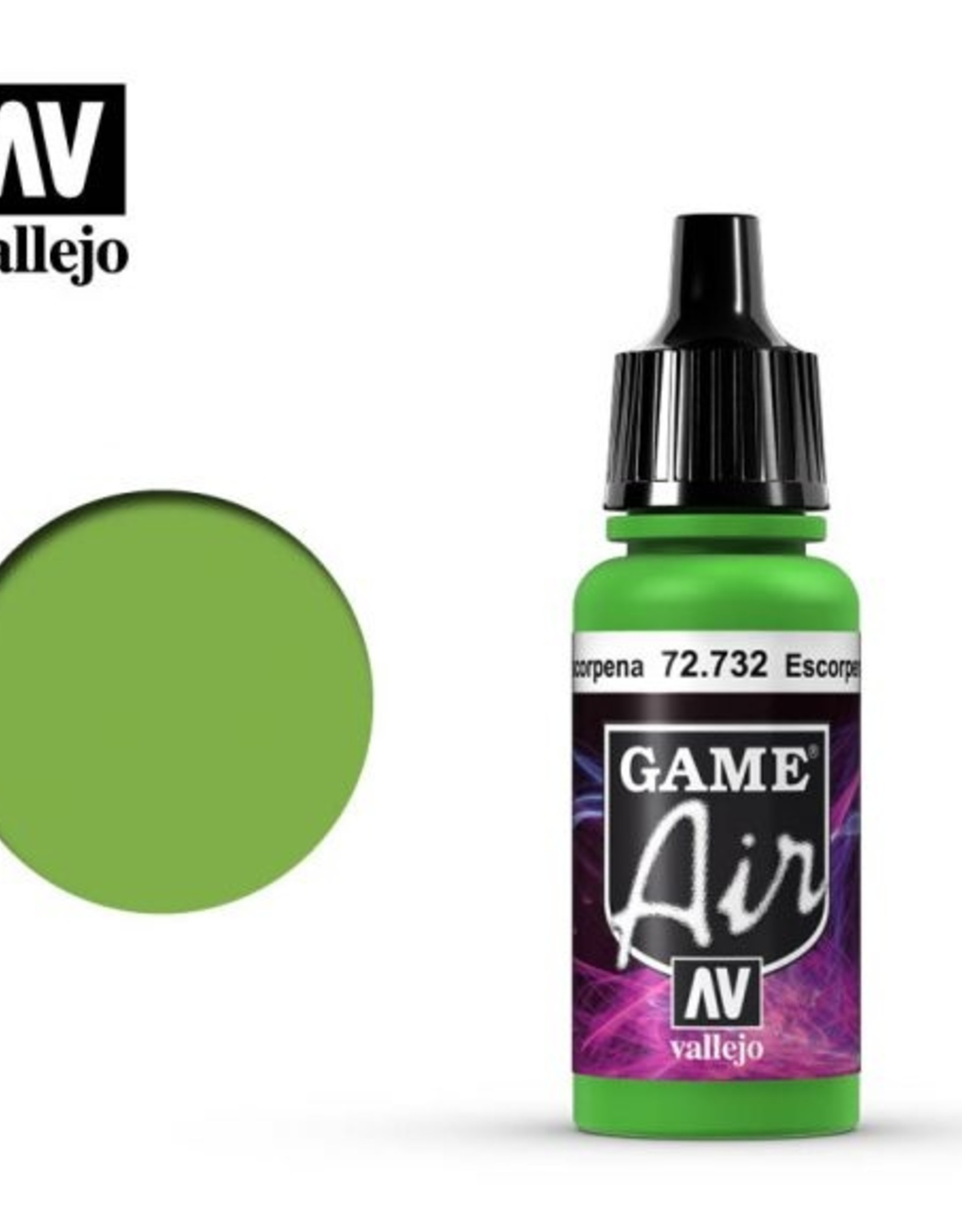 Vallejo Game Air:  72.732 Scorpy Green