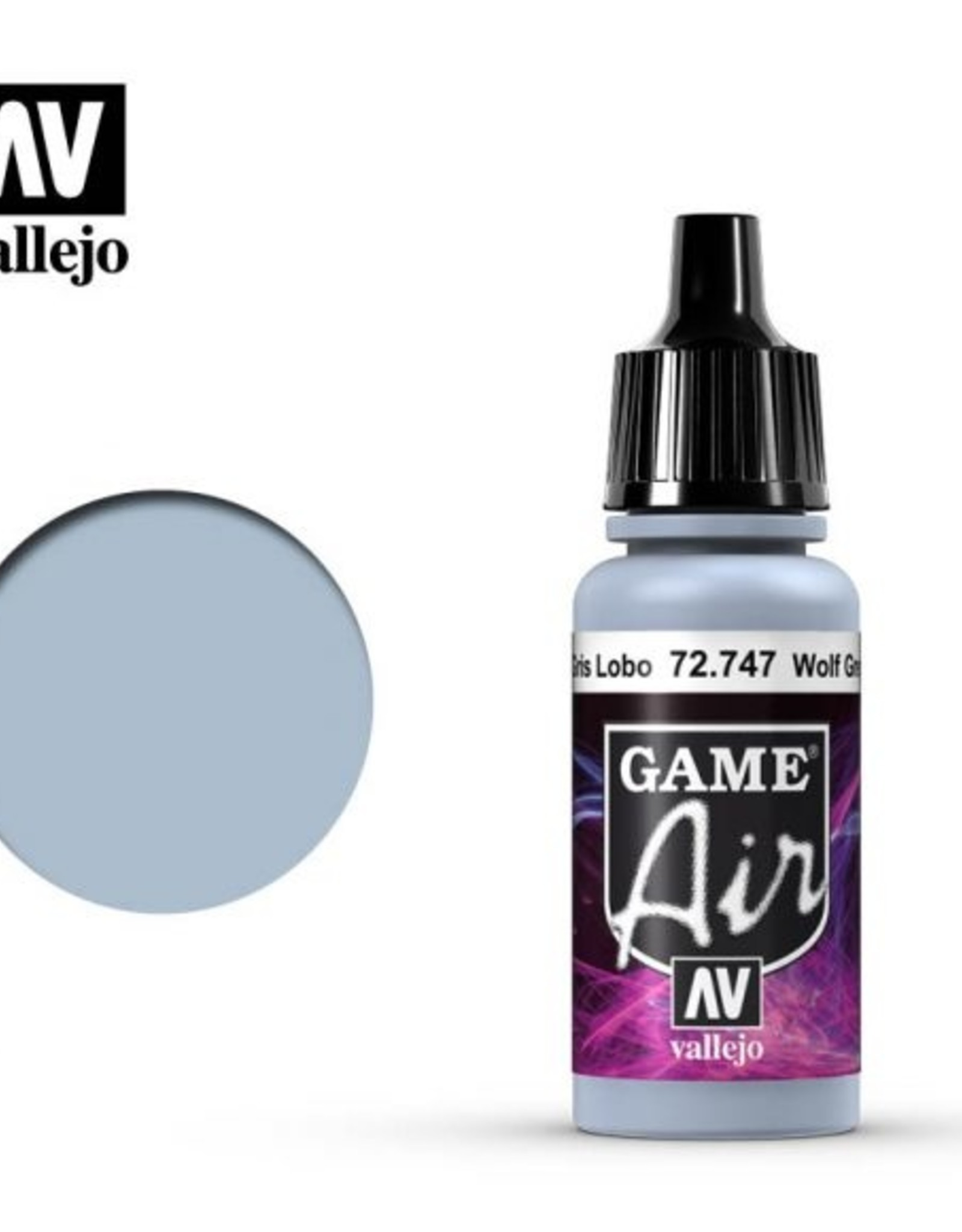 Vallejo Game Air:  72.747 Wolf Grey