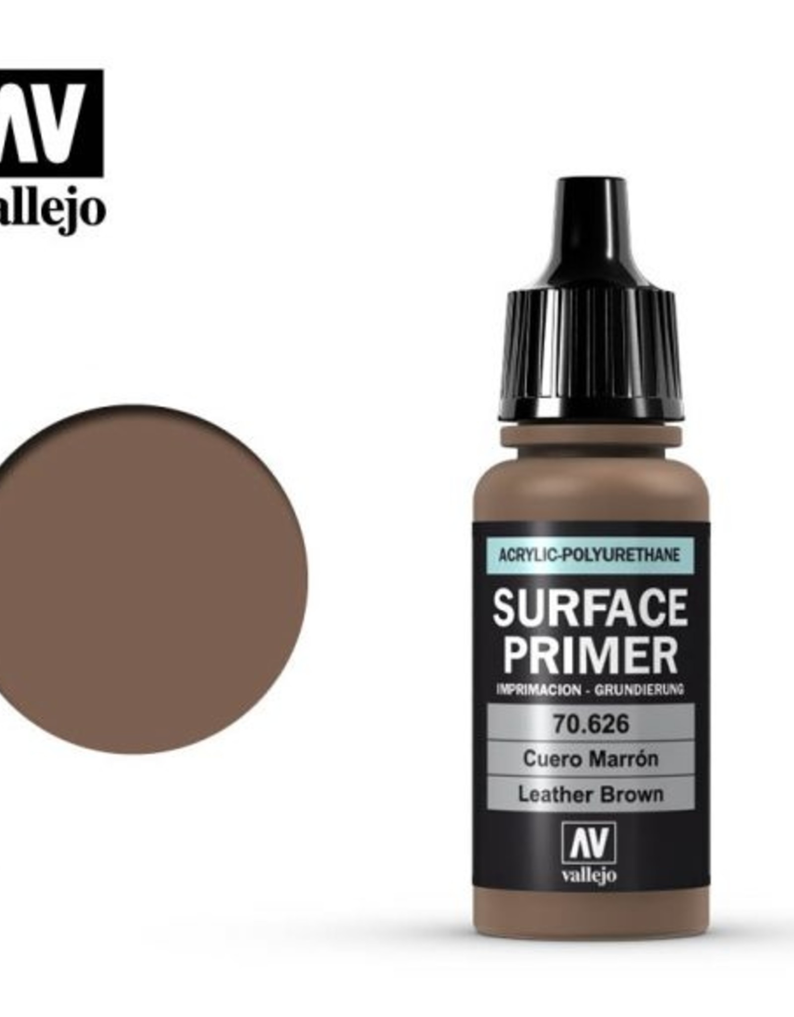 Vallejo Surface Primer: 70.626 Leather Brown