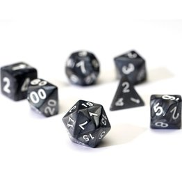 Sirius Dice Pearl Charcoal Grey Acrylic 7-Die Set