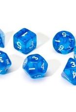 Sirius Dice Translucent Blue Resin 7-die set