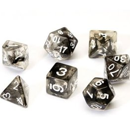 Sirius Dice Black Cloud Transparent Resin 7-Die Set
