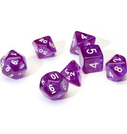 Sirius Dice Translucent Purple Resin 7-die set