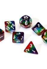 Sirius Dice Rainbow Translucent Resin 7-die Set