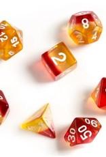 Sirius Dice Yellow, Red Translucent 7-die set