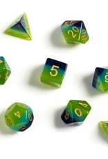 Sirius Dice Green, Blue Translucent 7-die set