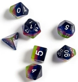 Sirius Dice Pink, Green, Blue 7-die set