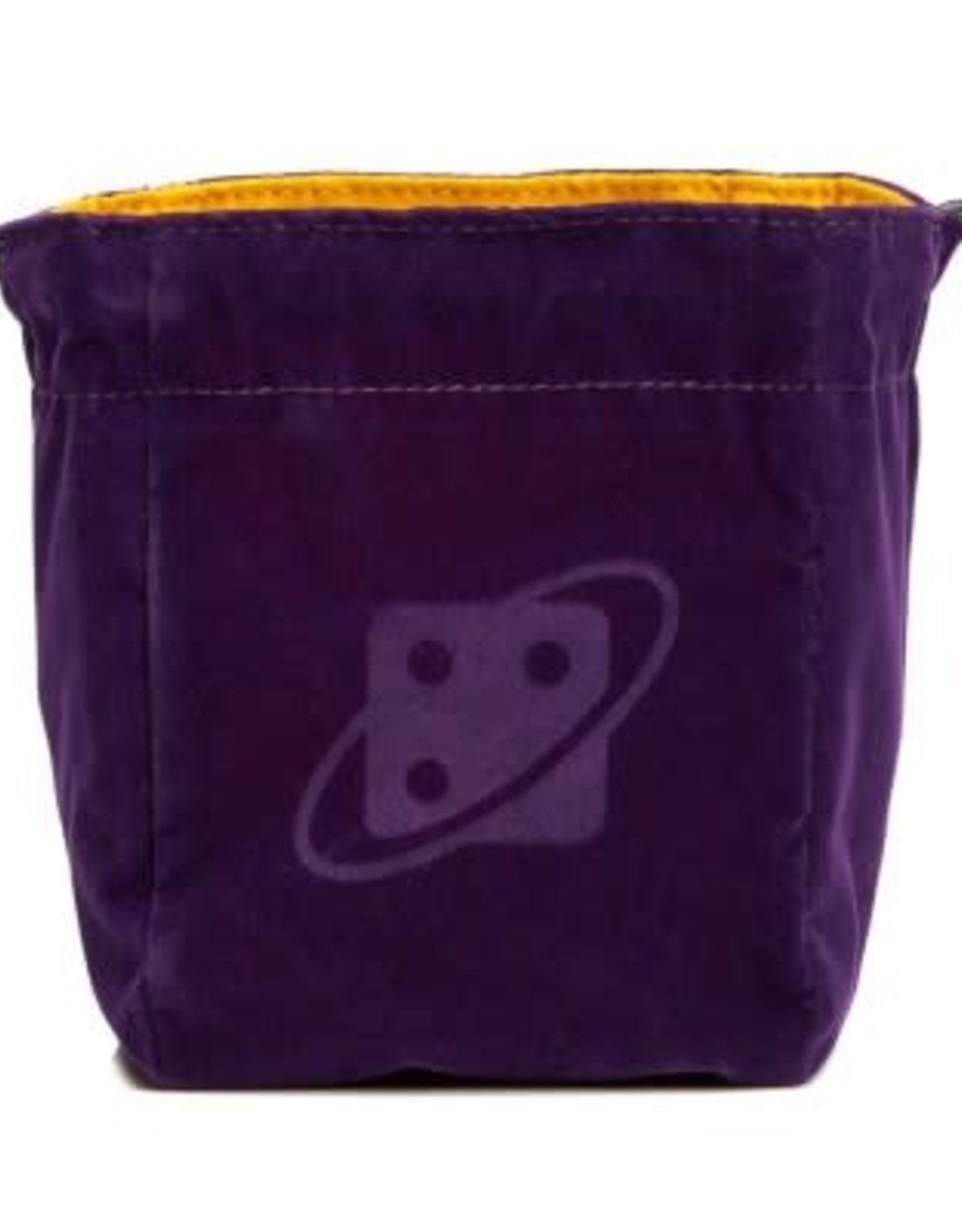 Sirius Dice Premium Reversible Dice Bag: Purple & Gold, Brass Clasp