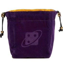 Sirius Dice Premium Reversible Dice Bag: Purple & Gold, Brass Clasp