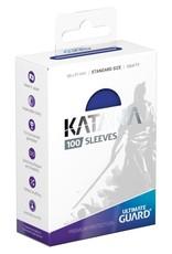 Ultimate Guard Katana Sleeves: 100 Count: Blue
