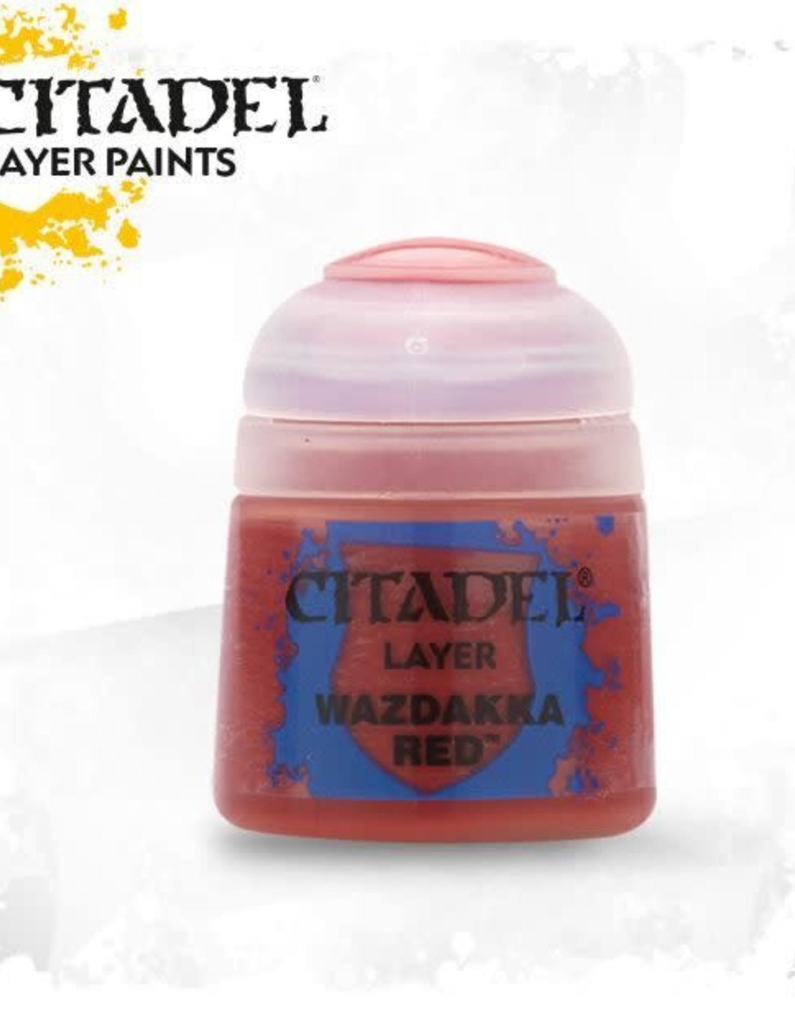 Games Workshop Citadel Paint: Layer - Wazdakka Red