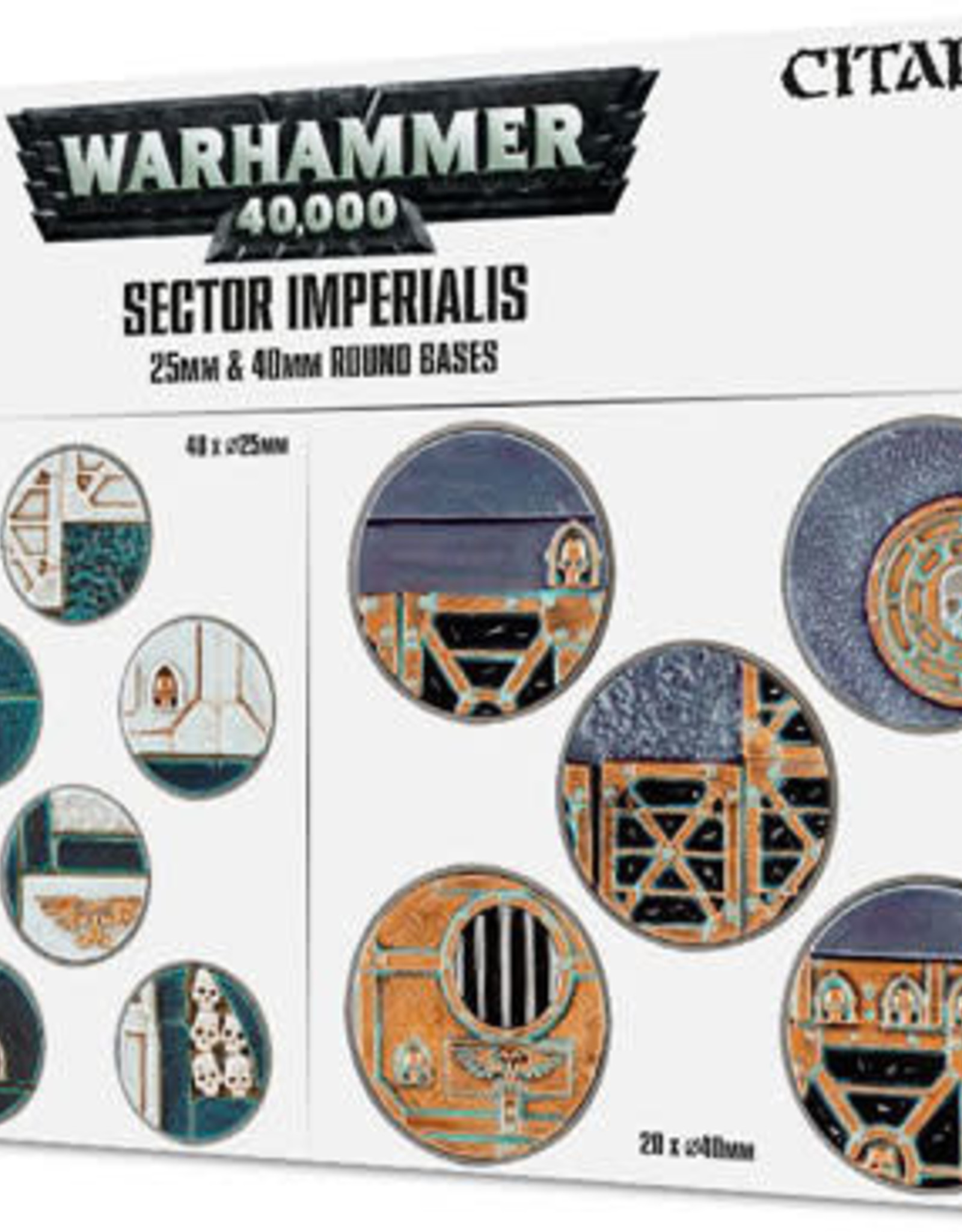 Games Workshop Warhammer 40K: Sector Imperialis 32mm Round Bases