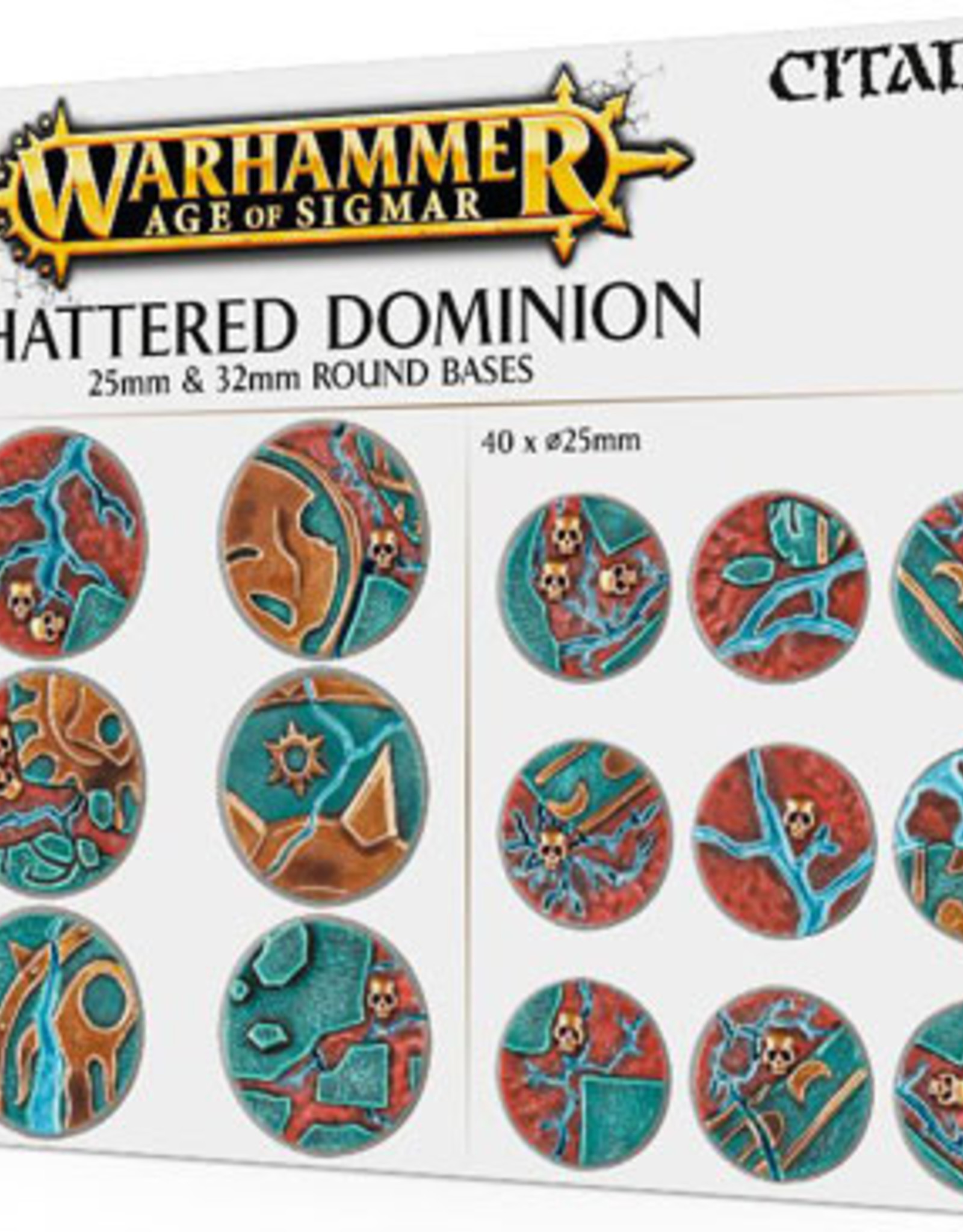 Games Workshop Warhammer Age of Sigmar: Shattered Dominion 25mm & 32mm Round Bases