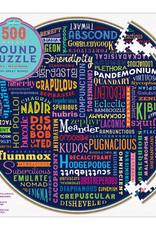 Eeboo 500 pc Round 100 Great Words Puzzle
