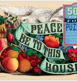 Eeboo 500 pc Foil Peace Be to This House Puzzle