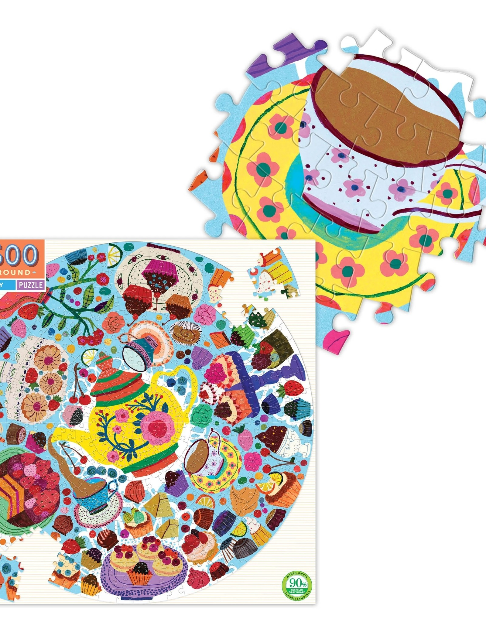 Eeboo 500 pc Round Tea Party Puzzle