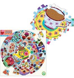 Eeboo 500 Piece Round Tea Party Puzzle