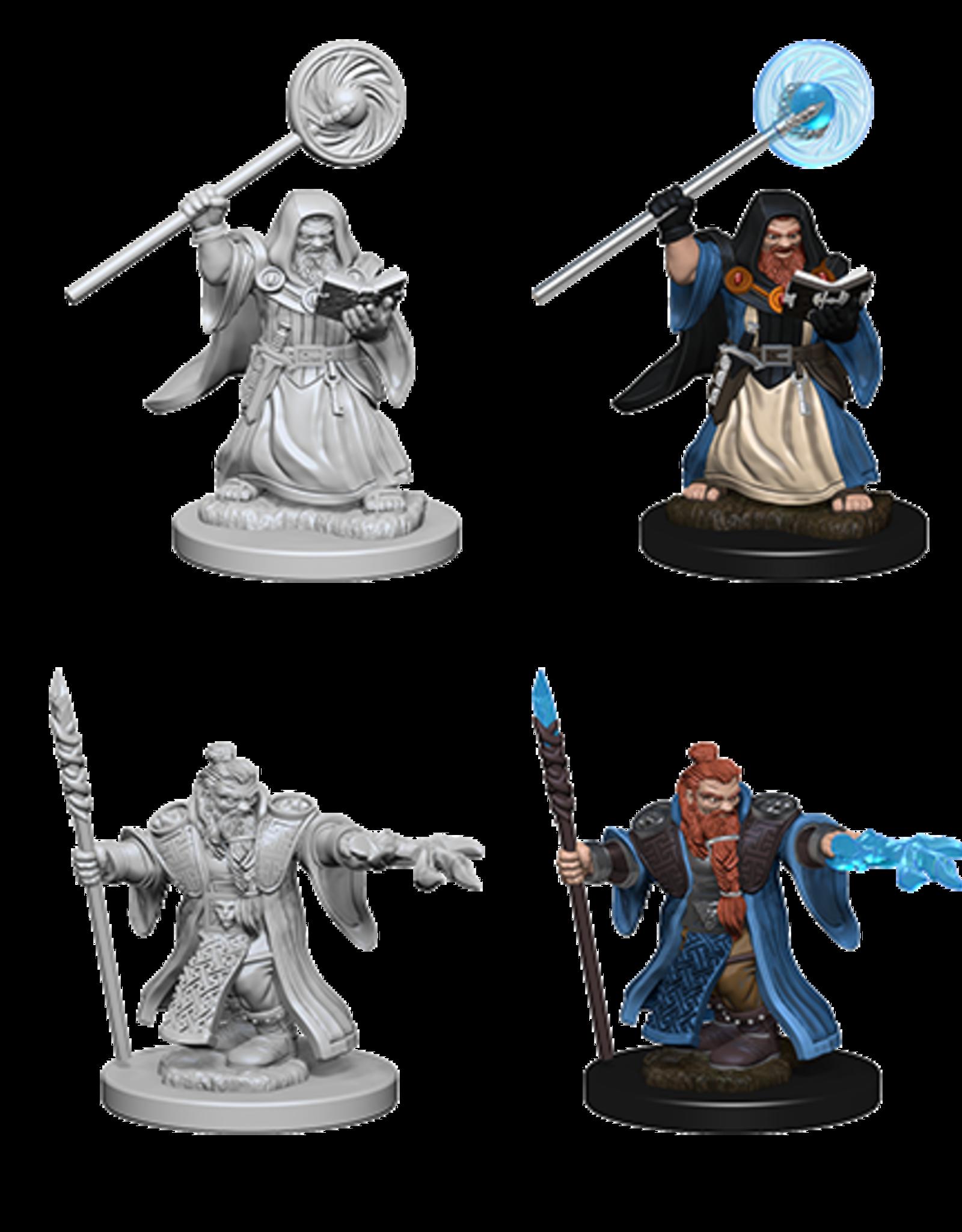 Wizkids D&D Mini: NM Primed: Male Dwarf Wizard