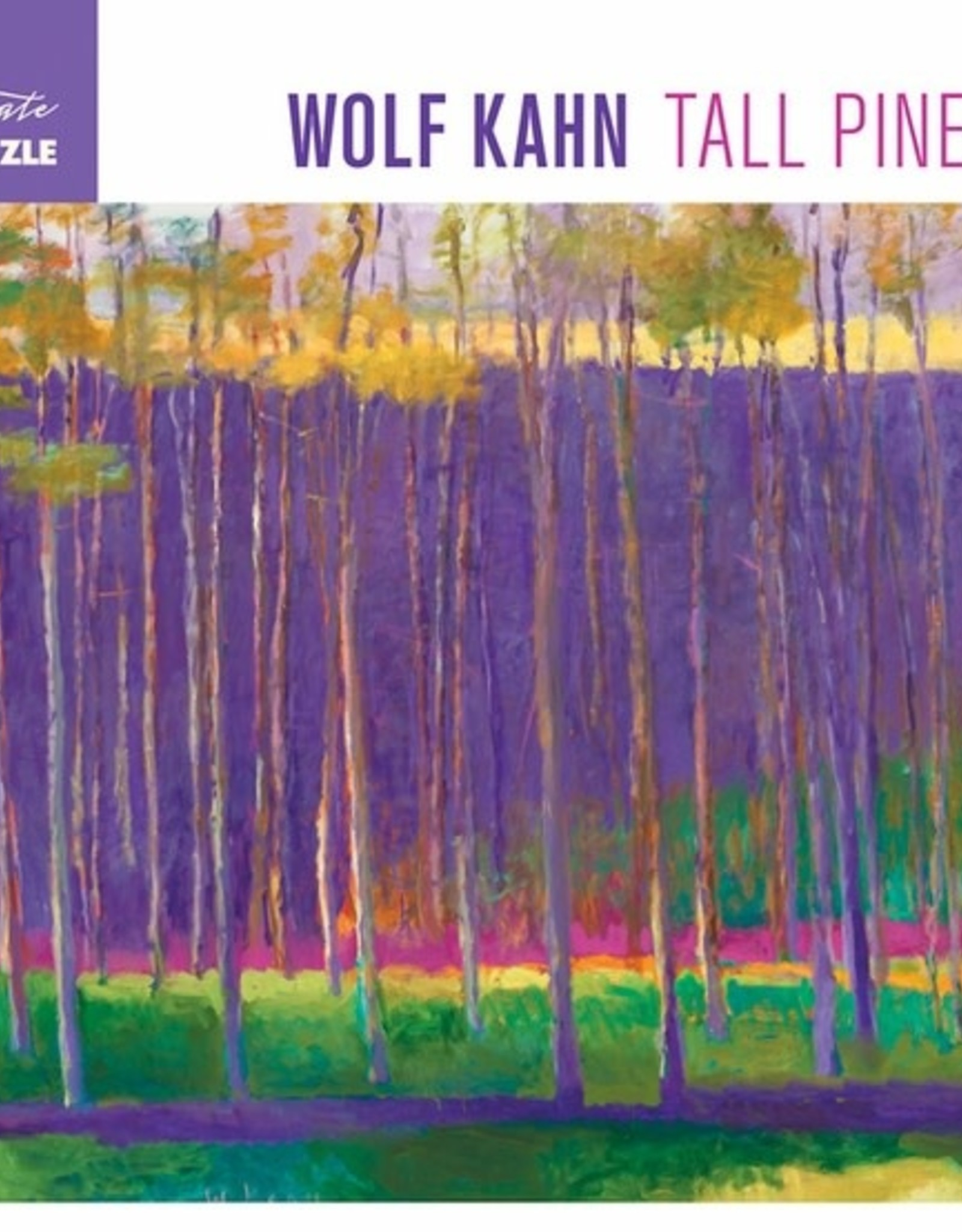 Pomegranate 1000 pc Wolf Kahn: Tall Pines Puzzle