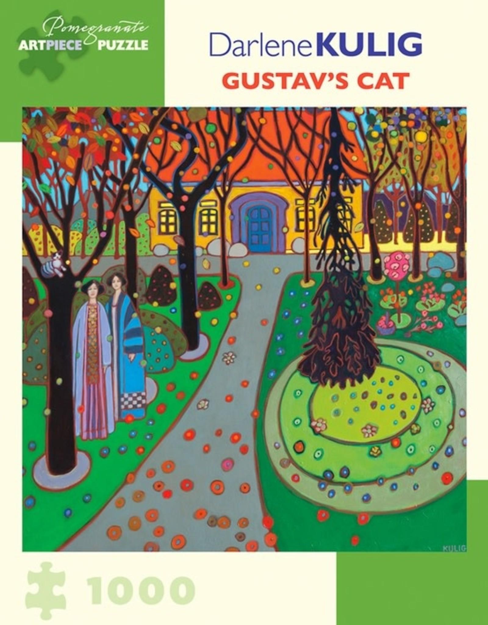 Pomegranate 1000 pc Darlene Kulig: Gustav's Cat Puzzle